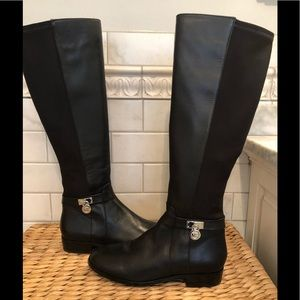 Michael Kors NWT leather/ fabric knee high boots